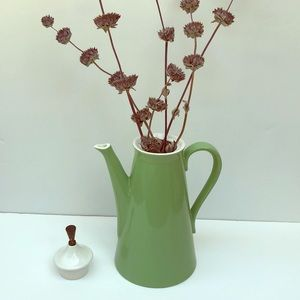 Vintage Green Coffee Carafe/ Vase